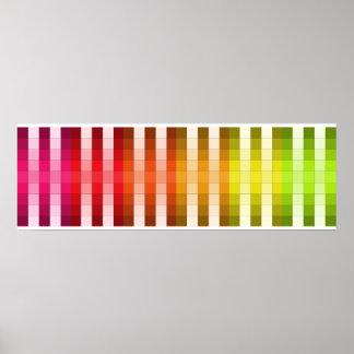 Coloree el acento largo 6 de la decoración del póster
