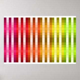 Coloree el acento largo 7 de la decoración del póster
