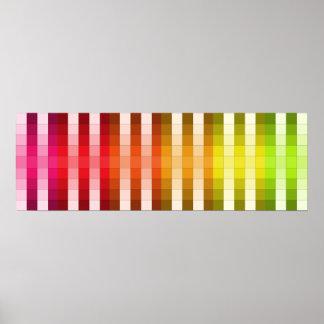 Coloree el acento largo de la decoración del color póster