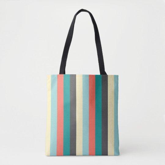 coloree el color en colores pastel de las rayas bolsa de tela