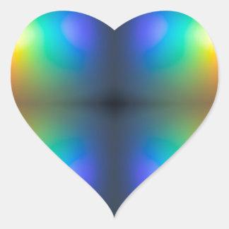 Coloree el extracto del caos pegatina en forma de corazón