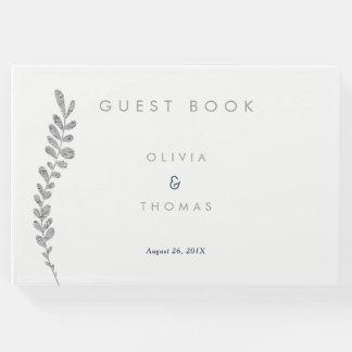Coloree el libro de visitas Editable del boda de