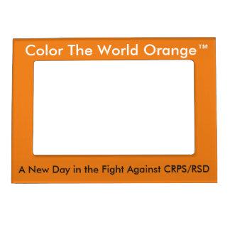 Coloree el marco magnético de Orange™ del mundo