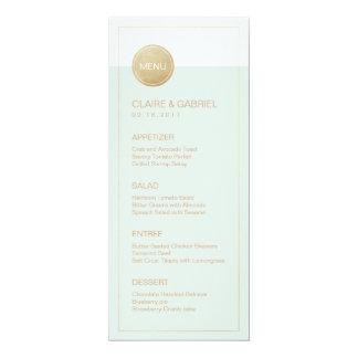 Coloree el menú moderno minimalista editable del invitación 10,1 x 23,5 cm