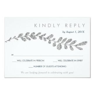 Coloree la falsa hoja de plata Editable que casa Invitación 8,9 X 12,7 Cm