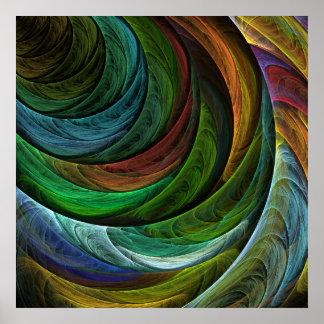 Coloree la impresión del arte abstracto de la