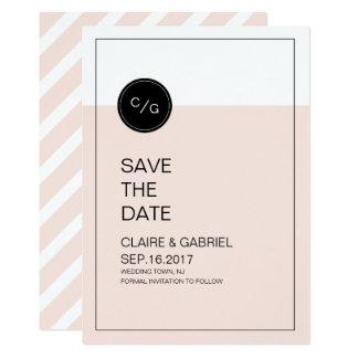 Coloree la reserva moderna minimalista editable la invitación 12,7 x 17,8 cm