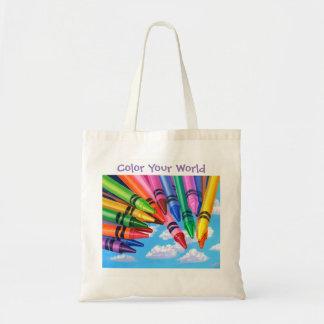 Coloree la su bolsa de asas del mundo