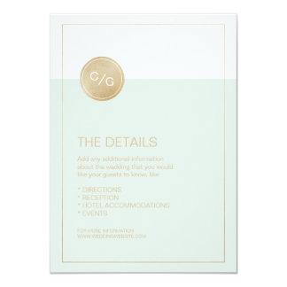 Coloree la tarjeta de detalles moderna editable invitación 11,4 x 15,8 cm