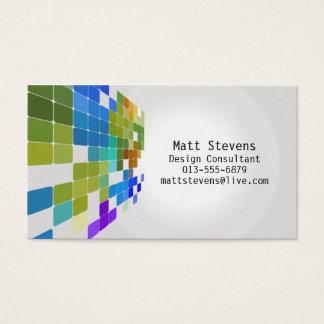 Coloree la tarjeta de visita azulverde de la