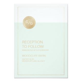 Coloree la tarjeta moderna editable de la invitación 11,4 x 15,8 cm