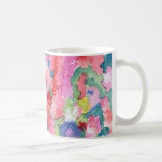 Coloree la taza floral del arte de la pared
