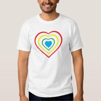 Coloree mi corazón camiseta