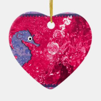 Coloree su Seahorse del baño de los niños del mund Ornaments Para Arbol De Navidad
