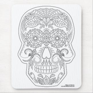 Coloréeme día del arte muerto del zen del cráneo alfombrilla de ratón