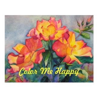 Coloréeme postal de la invitación del feliz cumple