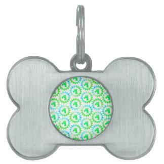 Coloréeme unicornio verde placa para mascotas