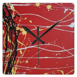Colores aborígenes reloj cuadrado