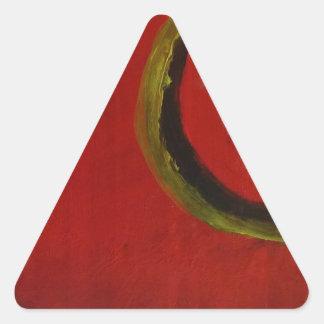 Colores abstractos de S.B. Eazle Pegatina Triangular