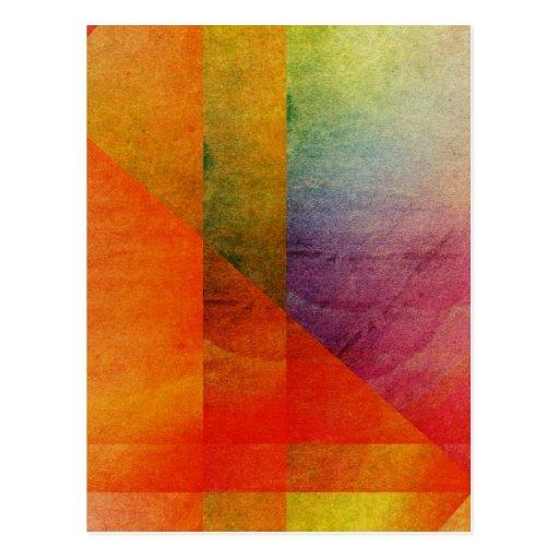 Colores abstractos del arco iris del arte de la postales