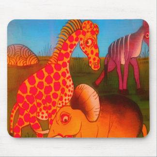 Colores africanos coloridos del safari del animal alfombrilla de ratón