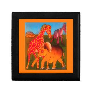Colores africanos coloridos del safari del animal joyeros