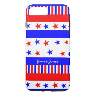 Colores brillantes de la bandera de los E.E.U.U. Funda Para iPhone 8 Plus/7 Plus