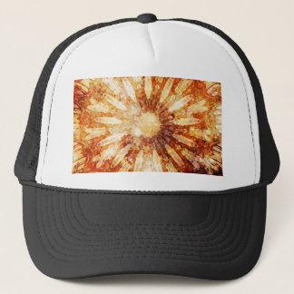 Colores calientes del naranja de Brown de la flor Gorra De Camionero