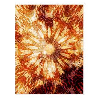 Colores calientes del naranja de Brown de la flor Postal