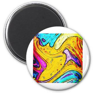 Colores creativos del arte de la calle de la pintu imán redondo 5 cm