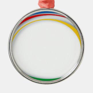 Colores de Google Adorno Navideño Redondo De Metal