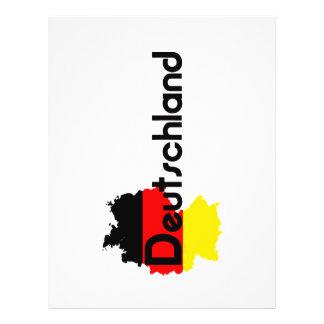 ¡Colores de la bandera de Deutschland! Folleto 21,6 X 28 Cm