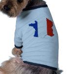 ¡Colores de la bandera de Francia! Ropa Perro