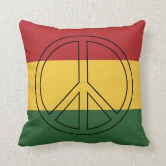 Colores de la bandera de Rasta Cojin