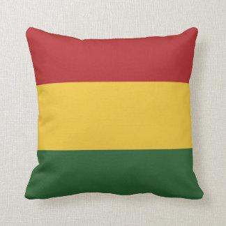 Colores de la bandera de Rasta Cojín Decorativo