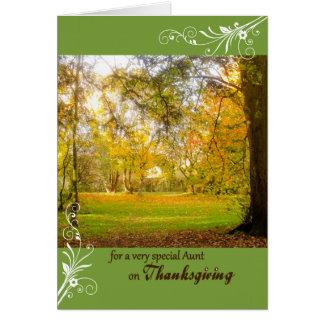 Colores de la caída de la acción de gracias para tarjeta de felicitación
