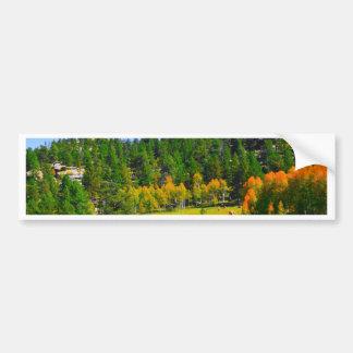 Colores de la caída en los Rockies Pegatina Para Coche
