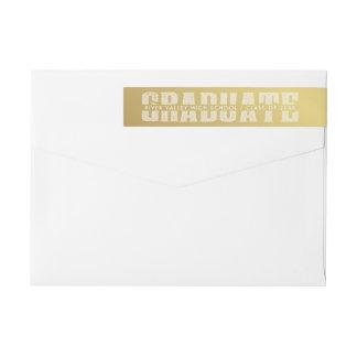 Colores de la escuela del oro de las letras de etiquetas para remite