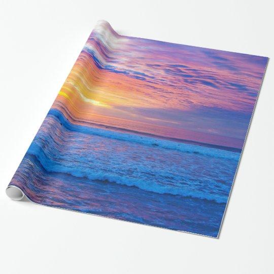 colores de la puesta del sol papel de regalo