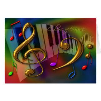 colores de la tarjeta de la música