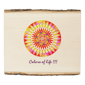 ¡Colores de la vida!!! Panel De Madera