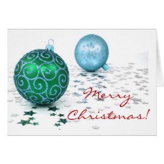 Colores de las decoraciones del navidad tarjeta de felicitación