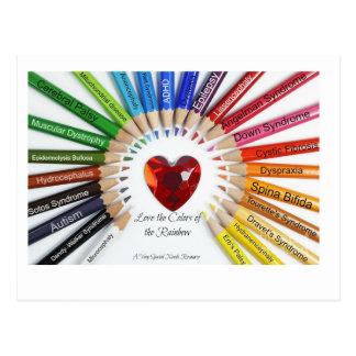 Colores de las postales del arco iris