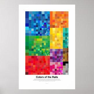 Colores de los carriles (luz) póster