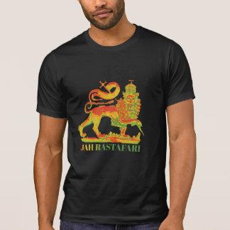 Colores de Rasta de la camiseta de Jah Rastafari