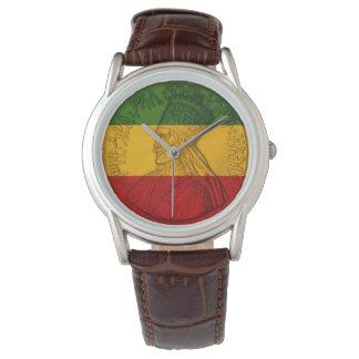 Colores de Rastafarian del reloj de Rasta Haile