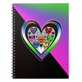 Colores del amor libretas
