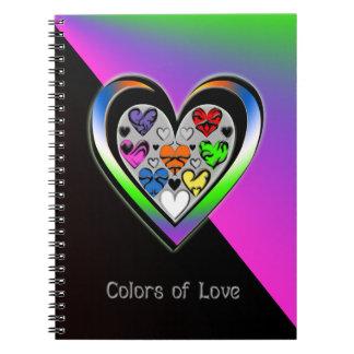 Colores del amor libreta