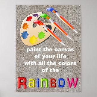 Colores del arco iris - arte del poster