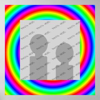 Colores del arco iris. Brillante y colorido. Foto  Póster